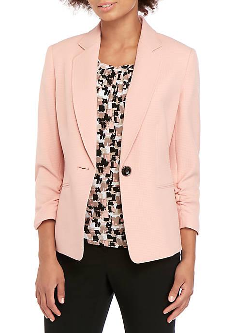 Kasper Petite One Button Textured Jacket