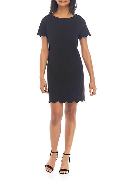 Scallop Trim Dress