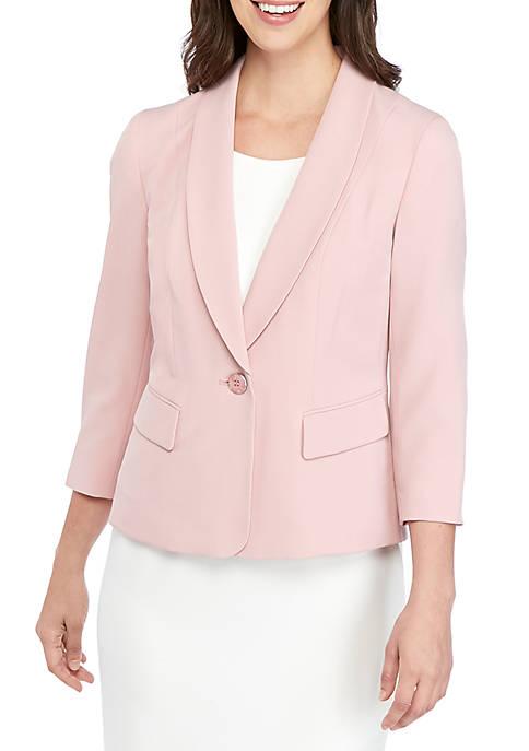 1-Button Shawl Collar Jacket