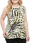 Plus Size Sleeveless Printed Cami