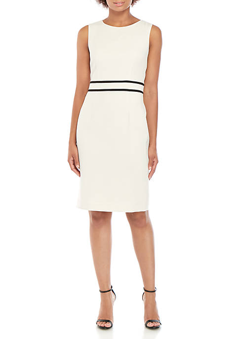 Kasper Sleeveless Crepe Dress