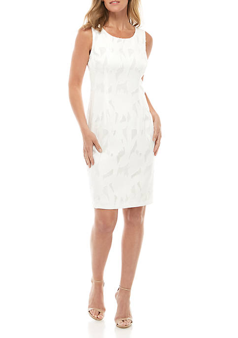 Kasper Sleeveless A Line Burnout Dress