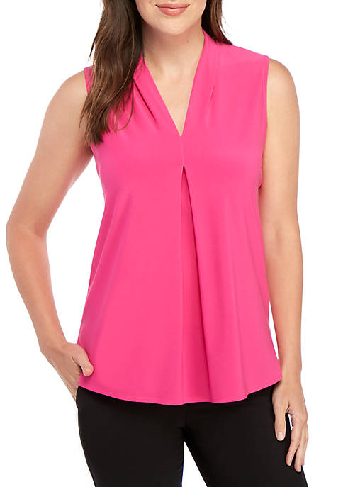 Solid V Neck ITY Top