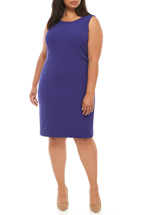 Plus Size Cap Sleeve Sheath Dress
