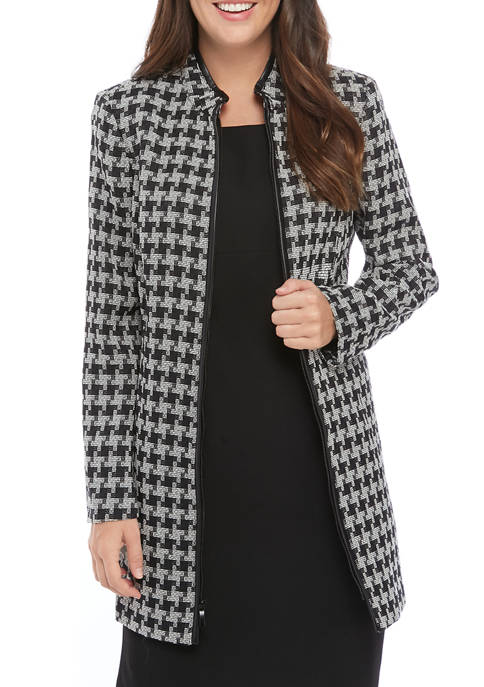 Womens Houndstooth Topper Jacket