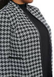 Plus Size Houndstooth Topper Jacket