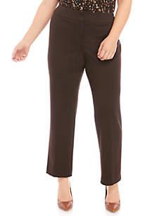 Plus Size Slim Ponte Pants by Kasper