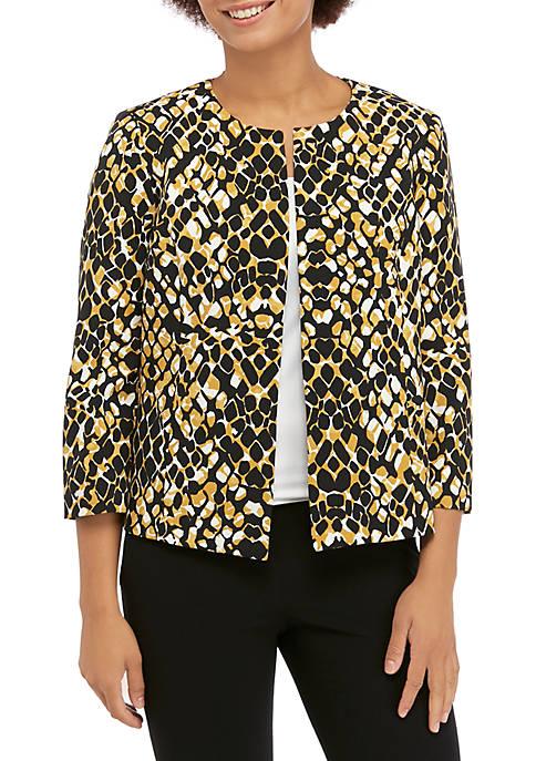 Womens Printed Flyaway Jacket