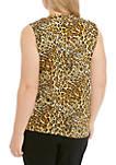 Plus Size U Neck Cheetah Cami