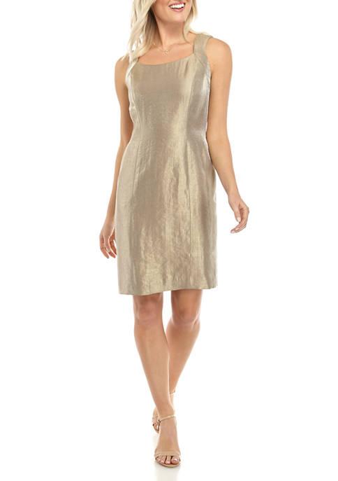Petite Sleeveless Shimmer Twill Dress