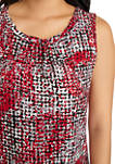 Womens Sleeveless Abstract Print Top