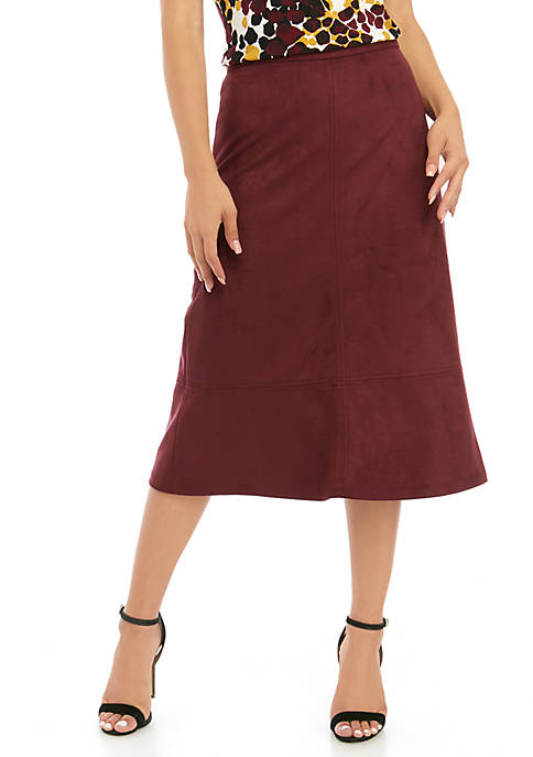 Womens Faux Suede Skirt