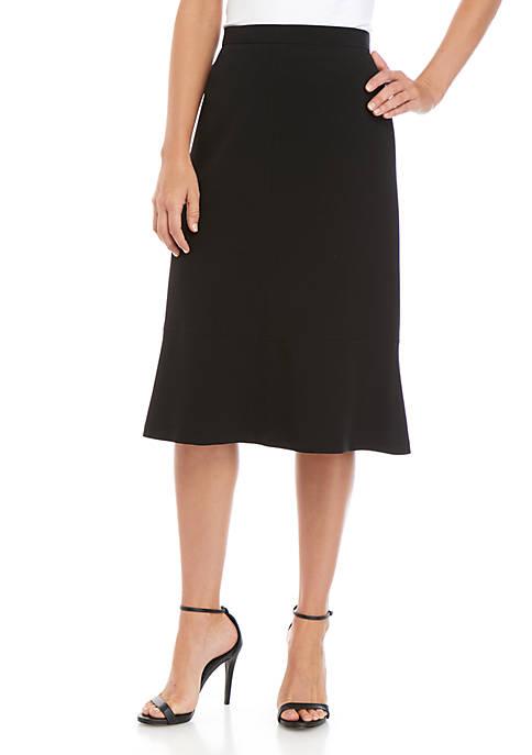 Kasper Stretch Flare Skirt