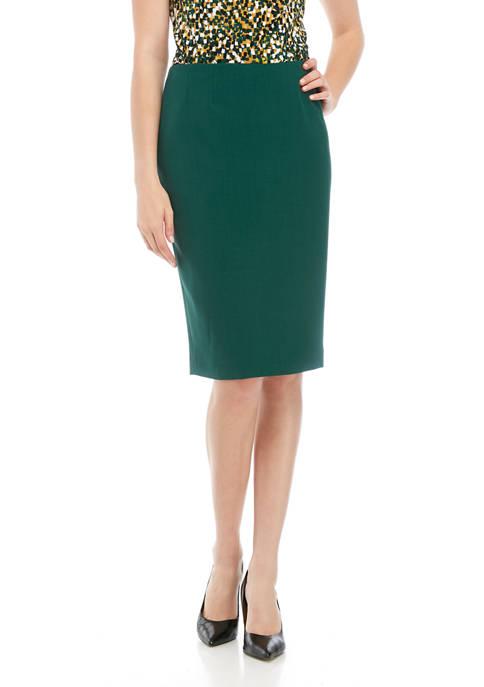 Kasper Womens Crepe Slim Skirt