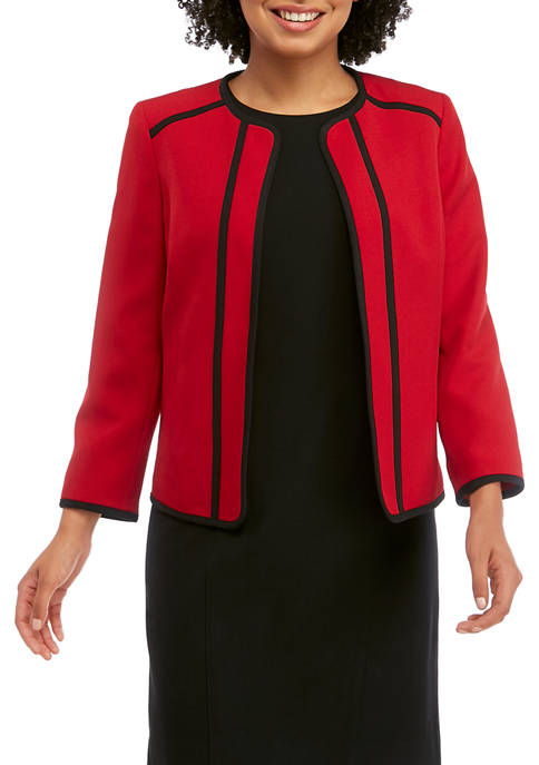 Kasper Petite Fly Away Jacket with Contrast Trim