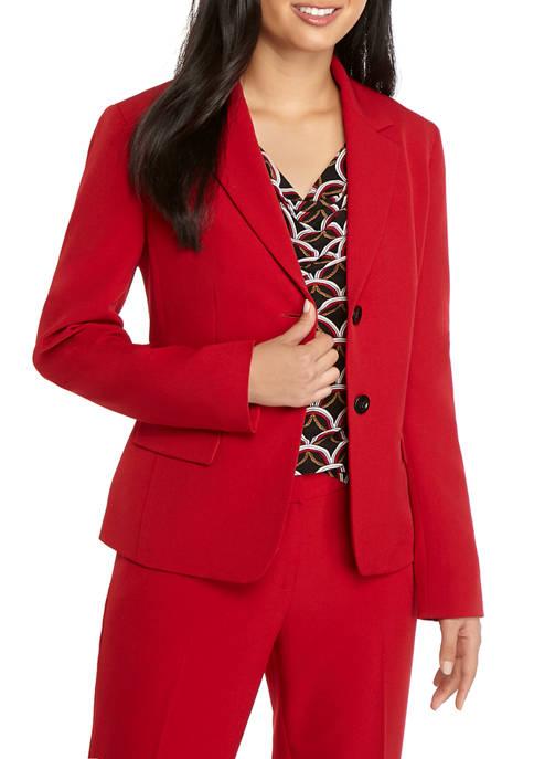 Kasper Womens 2 Button Solid Jacket