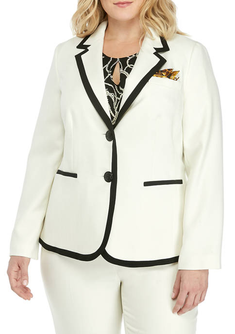 Kasper Plus Size 2 Button Notch Collar Jacket
