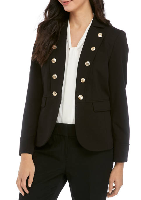 Kasper Womens Fly Away Ponte Jacket with Button