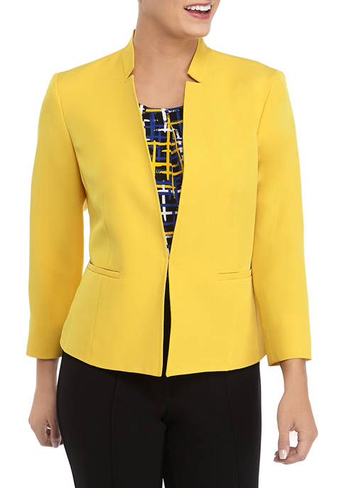 Womens Crepe de Chine Stand Collar Jacket
