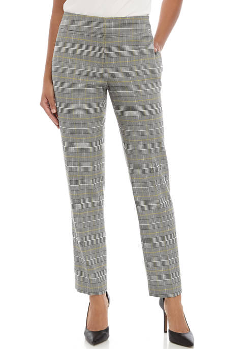 Kasper Womens Check Print Pants