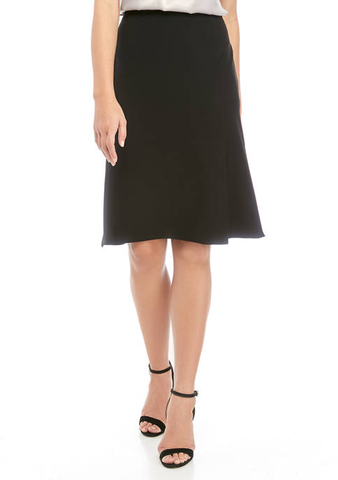 Kasper Womens Crepe Skirt with Layered Detailing