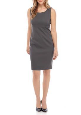 Womens Pin Dot Empire Waist Dress