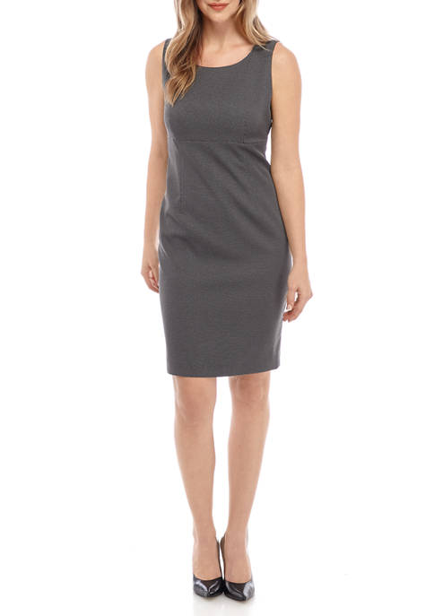 Kasper Womens Pin Dot Empire Waist Dress