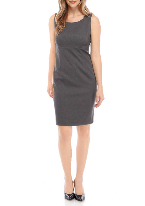 Kasper Petite Pin Dot Empire Waist Dress