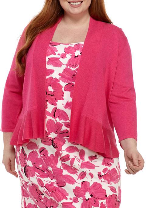 Plus Size Peplum Cardigan