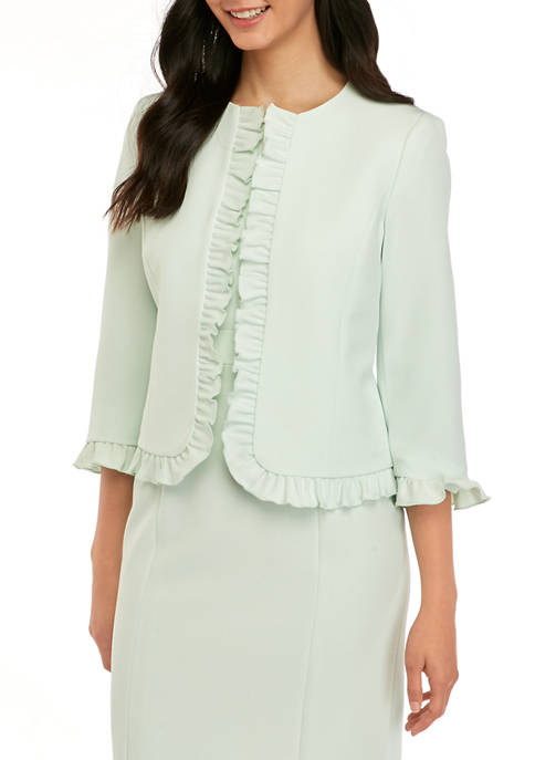Womens Ruffle Trim Jacket