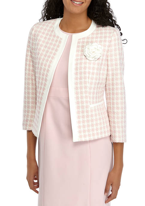 Kasper Womens Tutu Checked Jacket