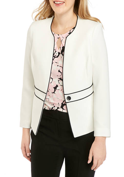 Womens Piped One Button Jacket
