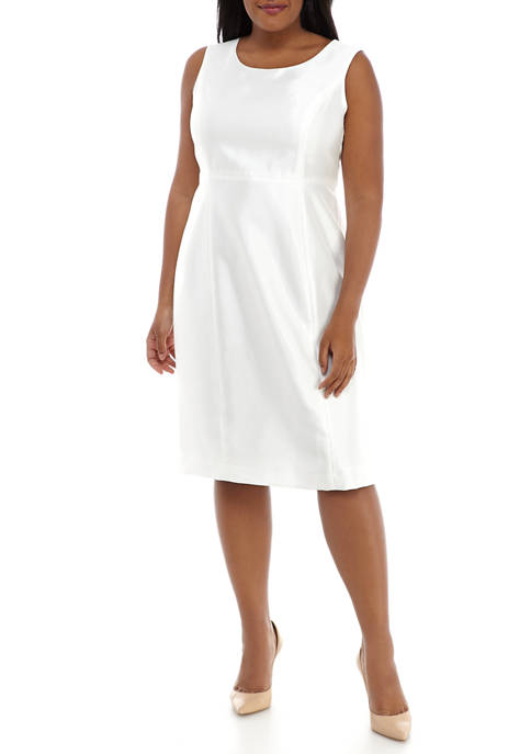 Plus Size Shantung Empire Waist Dress