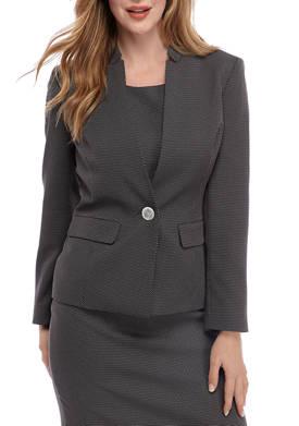 Womens One Button Pin Dot Jacket