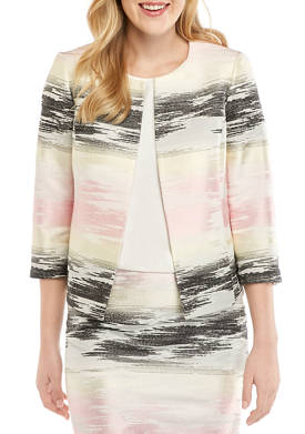 Womens Ombre Jacquard Jacket