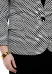 Plus Size Graphic Jacquard Button Jacket