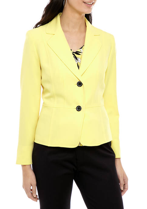 Womens Crepe 2 Button Jacket