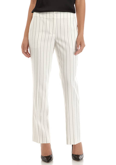 Womens Pinstripe Trouser Pants