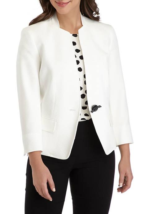 Kasper Womens Cutaway One Button Jacket