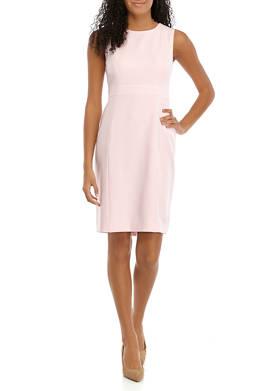 Womens Sleeveless Sheath Dress