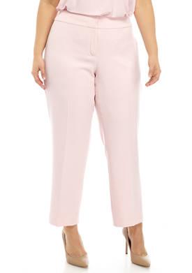 Plus Size Stretch Crepe Pants