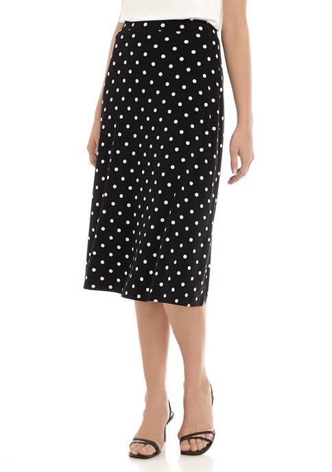 Womens Dot Knit Skirt