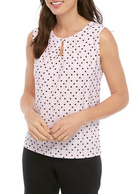 Womens Multi Dot Sleeveless Top