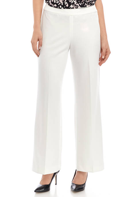 Womens Wide Leg Crepe Pants