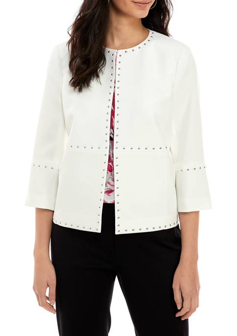 Womens Stud Embellished Jacket