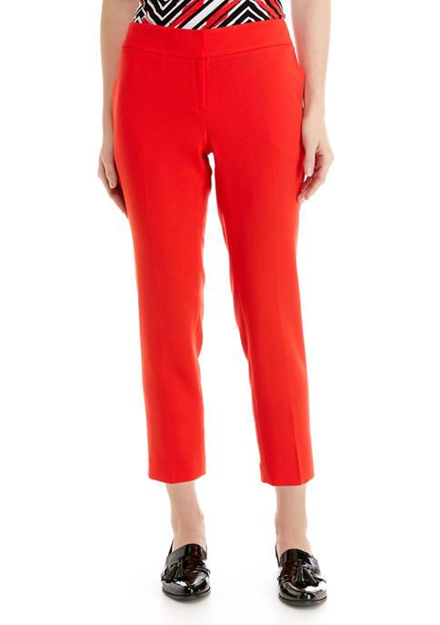 Petite Stretch Crepe Slim Pants