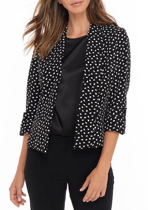 Kasper Petite Moon Dot Shawl Collar Jacket