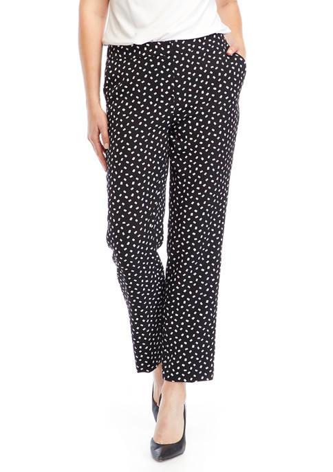 Womens Dot Print Pants
