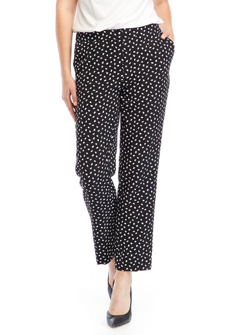 Kasper Womens Dot Print Pants