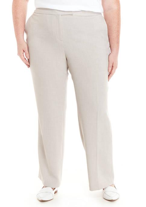 Plus Size Pebble Stretch Crepe Pants